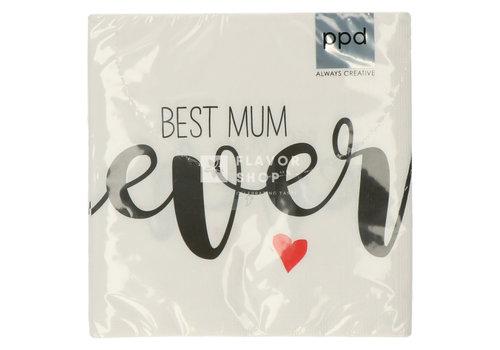 PPD Servietten Best Mum Ever 33x33 cm