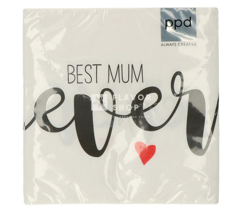 Servietten Best Mum Ever 33x33 cm