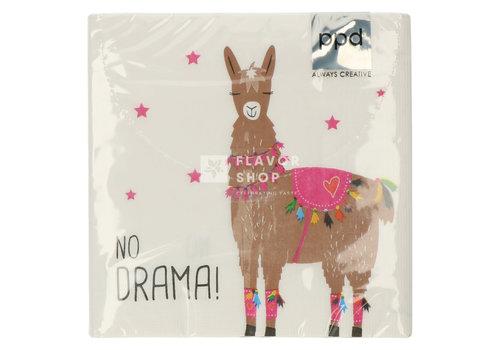 PPD Servietten Drama Llama white 33x33 cm