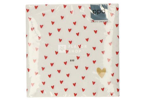 PPD Servietten Little Hearts 33x33 cm