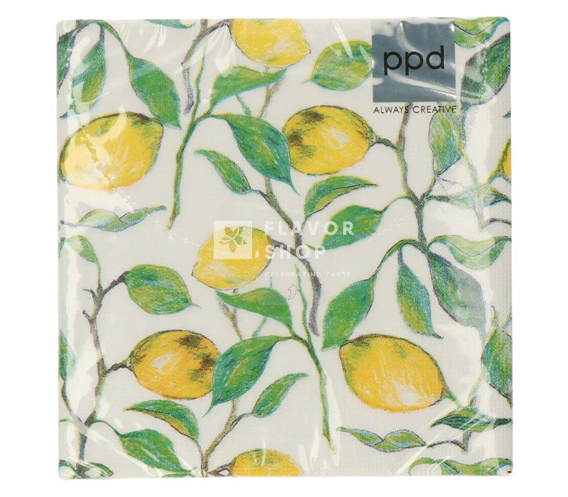 Servietten Beautiful Lemons 33x33 cm