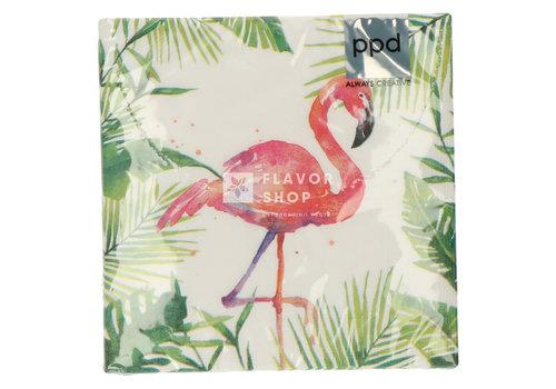PPD Servietten Tropical Flamingo