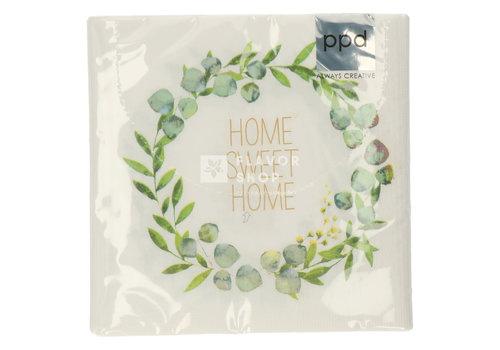 PPD Servietten Home Sweet Home 33x33 cm