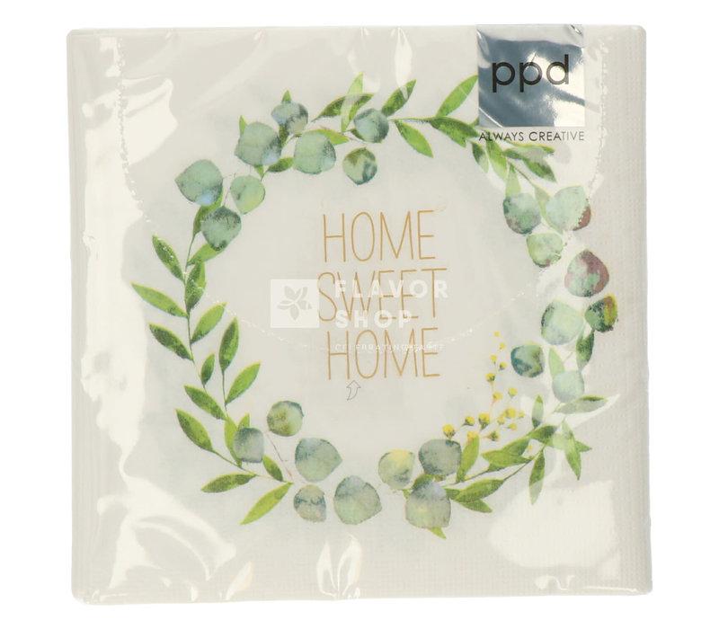 Servietten Home Sweet Home 33x33 cm
