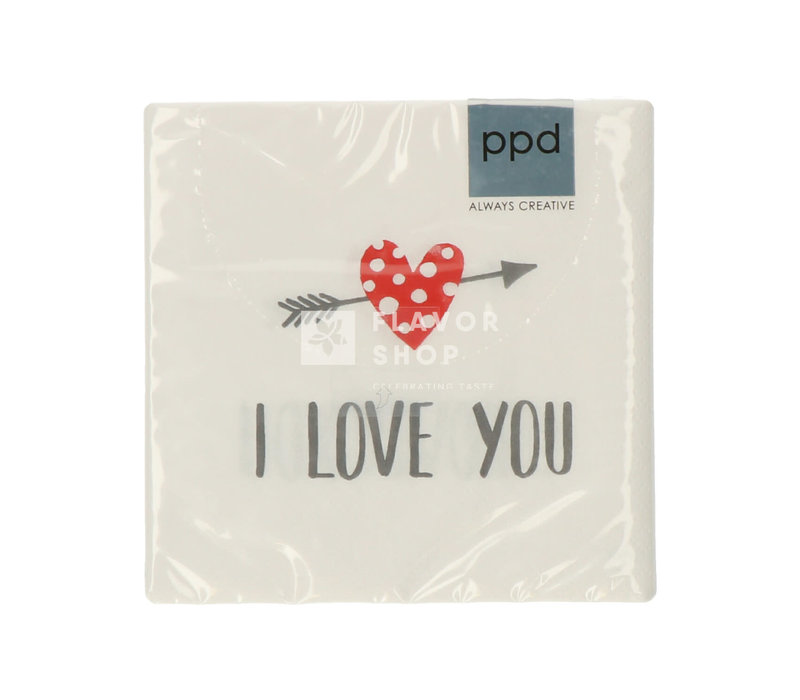 Servietten I Love You 25x25 cm