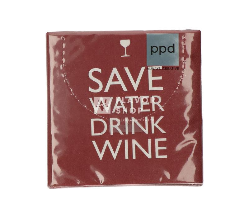 Servietten Save Water 25x25cm