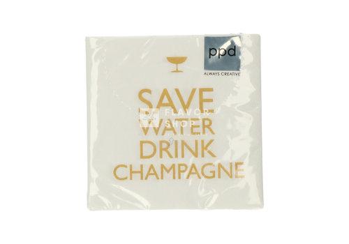 PPD Servietten Drink Champagne!