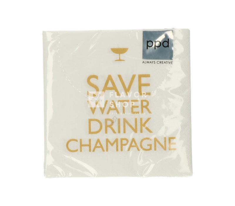 Servietten Drink Champagne! 25x25 cm