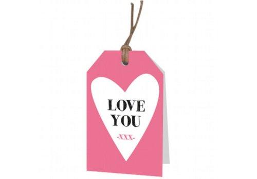 "Carte de vœux ""Love you"""