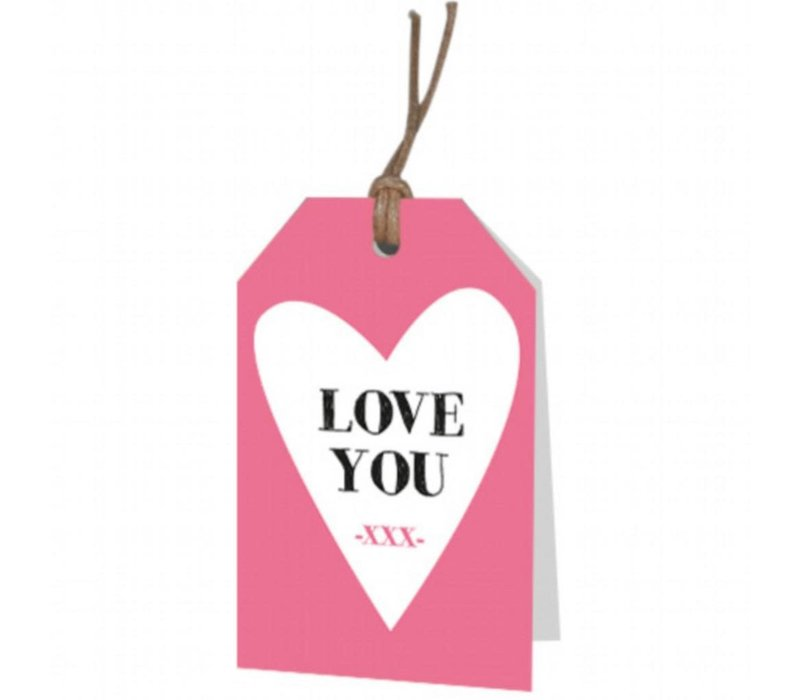Love you' wenskaartje
