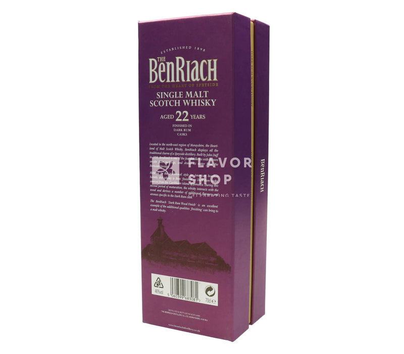 BenRiach 22 years Dark Rum Wood Finish