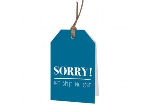 Sorry het spijt me echt' wenskaartje