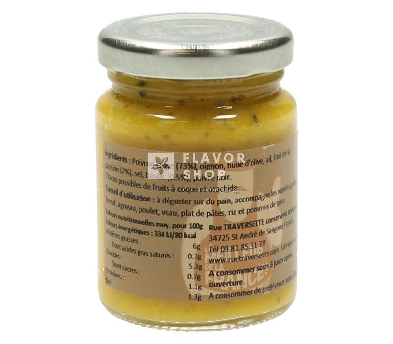 Tapenade Gele paprika Passievrucht en basilicum