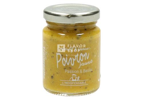 Rue Traversette Tapenade Poivrons jaunes Fruits de la passion et basilic