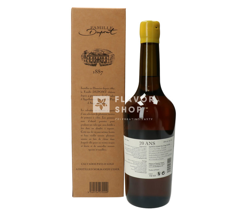 Calvados Dupont 20 years 70 cl