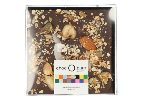 Choc O Pure Chocolade Tablet fondant granola met stevia