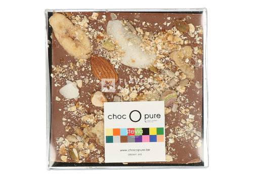 Choc O Pure Chocolade Tablet melk granola met stevia