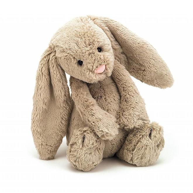 Knuffel beige konijn