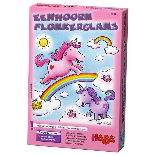 Eenhoorn Flonkerglans - Dobbelspel 3+