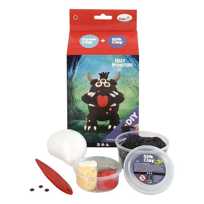 Silk & Foam Clay Ugly Monster zwart