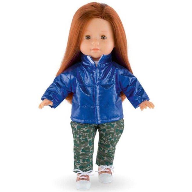 Ma Corolle Jas pufferjack blauw (voor pop met haar)
