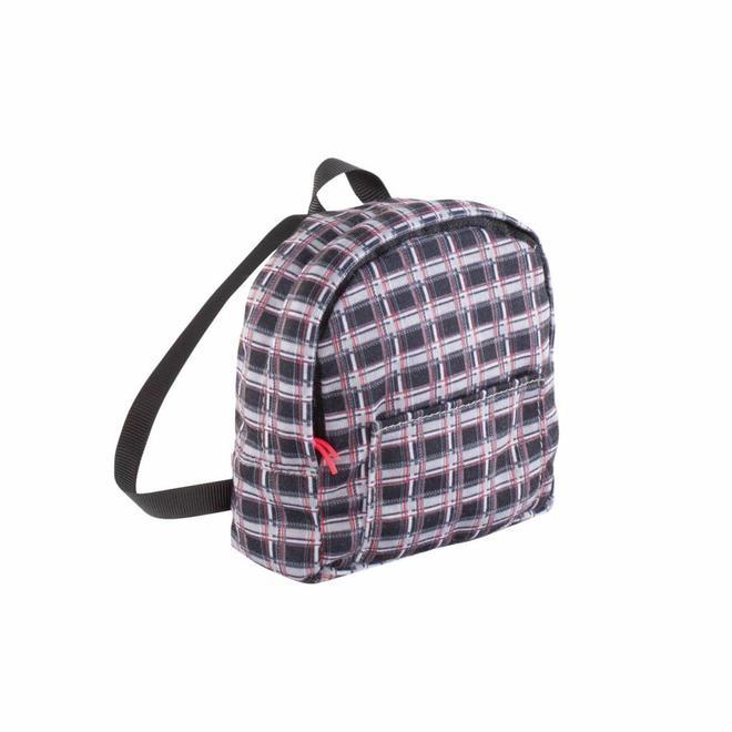 Backpack geruit (voor pop met haar)