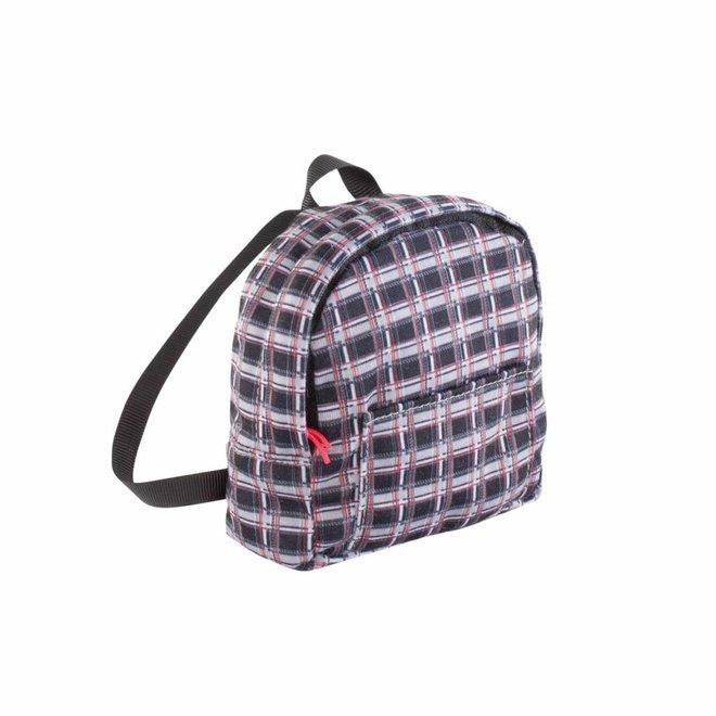 Ma Corolle Backpack geruit (voor pop met haar)