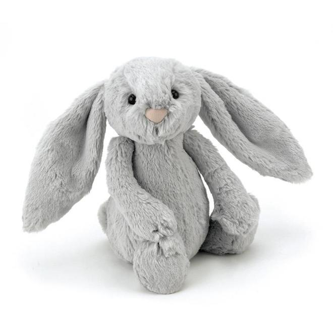 Knuffel grijs konijn klein