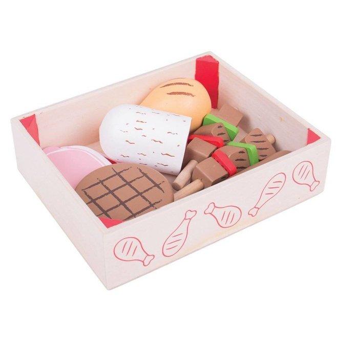 Kistje met vlees