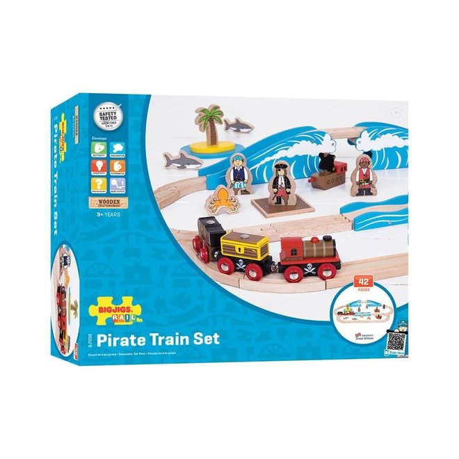 Bigjigs Trein set piraten