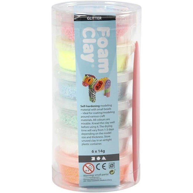 Foam Clay pakket glitter (6st)
