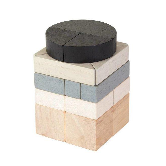 PlanToys Fraction Blocks black/grey