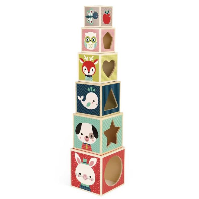 Stapelblokken Baby Forest hout 1+