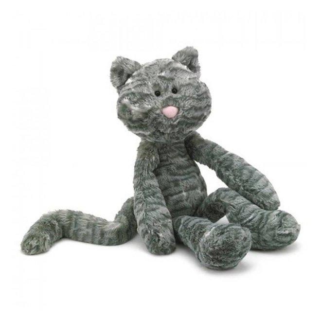 Knuffel kat grijs