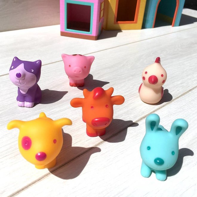Djeco Stapelblokken met diertjes 'Topanifarm'