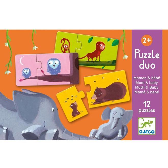 Djeco Puzzel Duo - Mama & baby