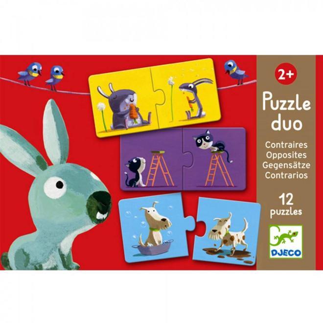 Puzzel duo tegenstellingen 2+