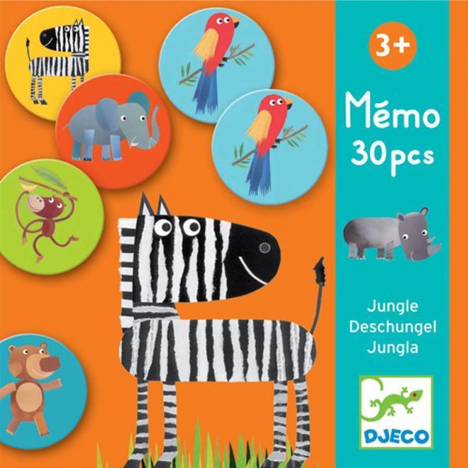 Memo spel - Jungle 3+