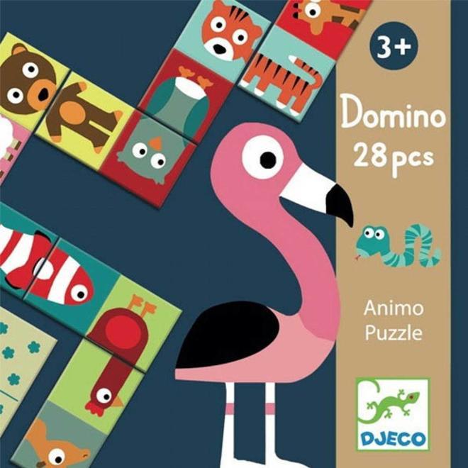Dieren domino puzzel spel 3+