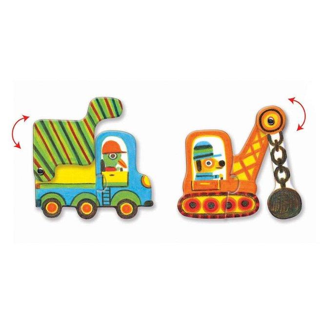 Djeco Puzzel Duo - Voertuigen