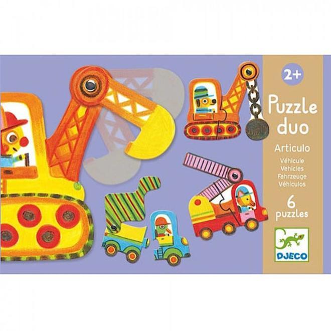Puzzel duo voertuigen 2+