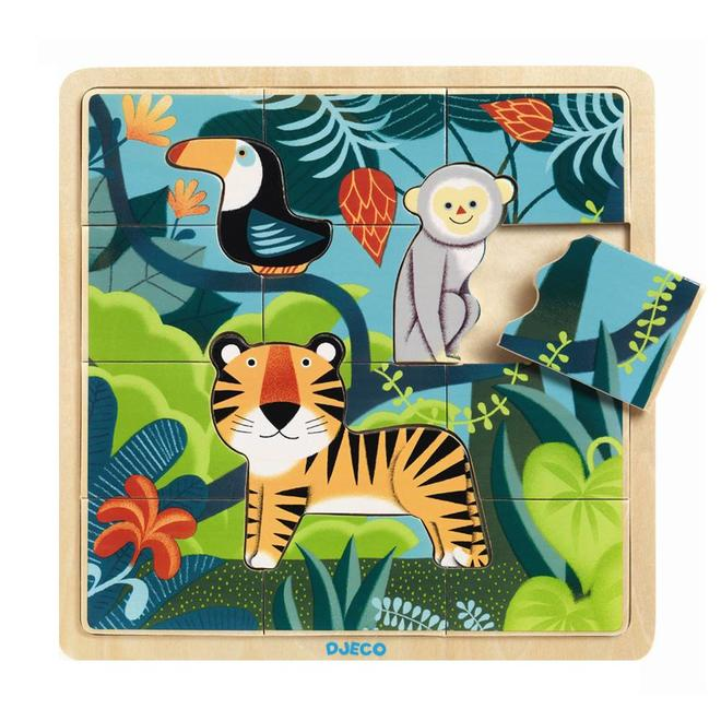 Houten puzzel jungle (15st) 3+