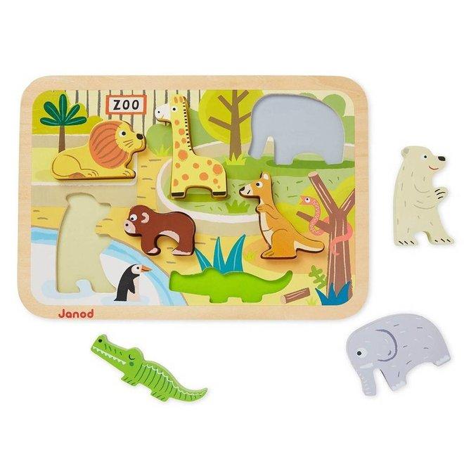 Chunky puzzel dierentuindieren