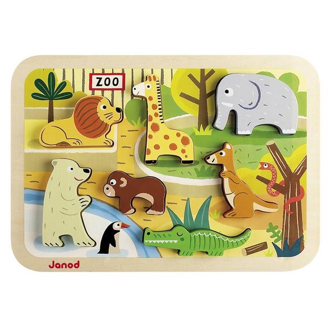 Chunky puzzel dierentuin 18m+