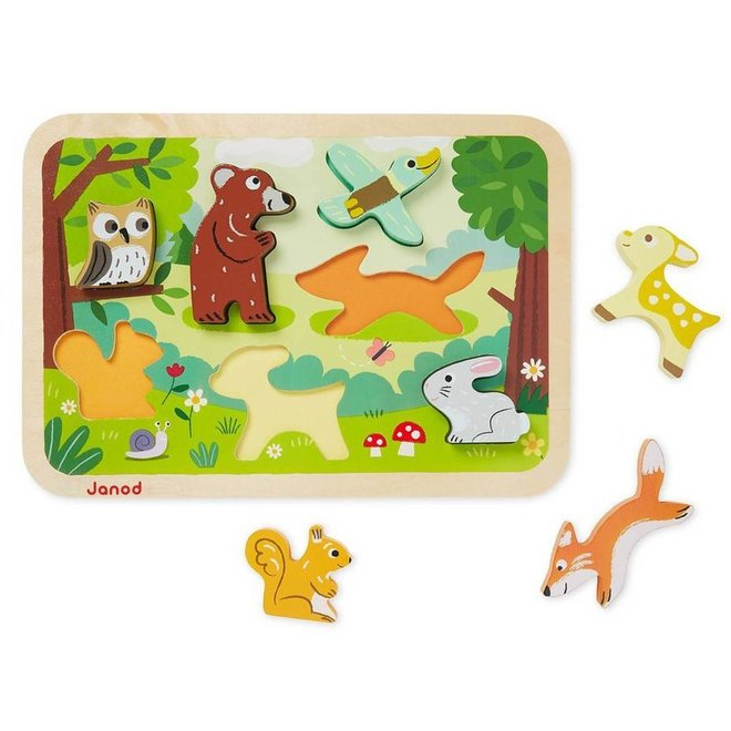 Janod Chunky puzzel bos dieren