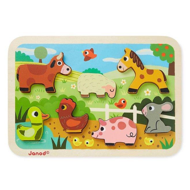 Chunky puzzel boerderij 18m+