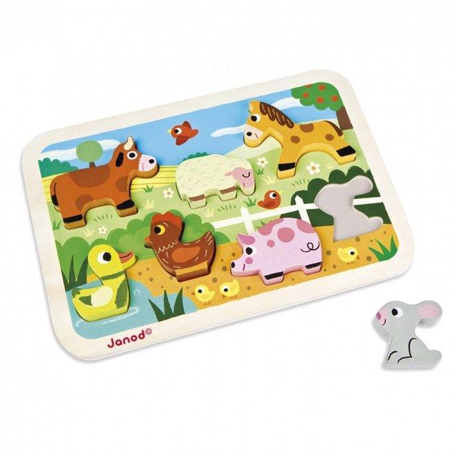 Chunky puzzel boerderij dieren