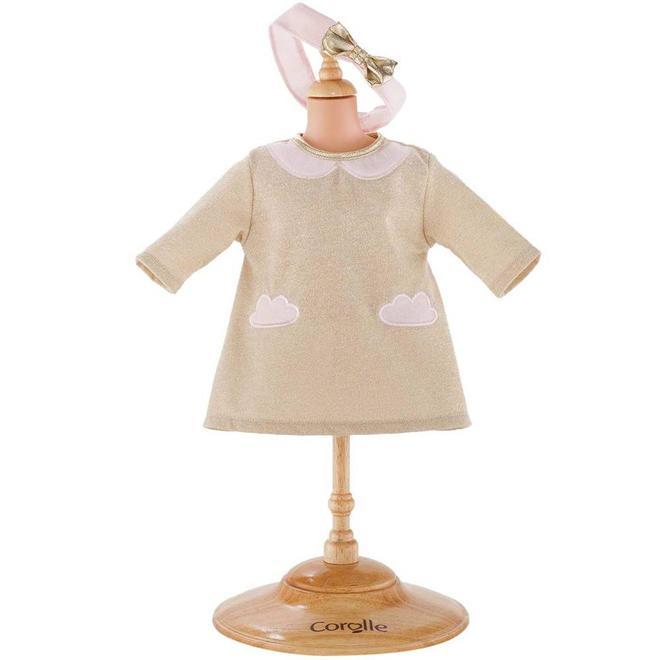 Poppenkleding jurk sparkling cloud (voor Mon Grand 36cm)