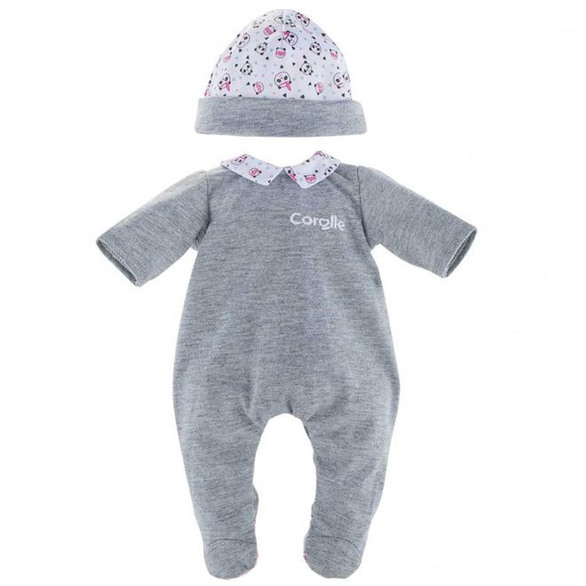 Poppenkleding Pyjama grijs (voor Mon Grand 36cm)
