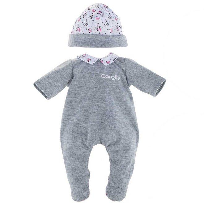 Pyjama & mutsje panda (voor babypop 36cm)